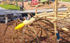 bug sculpture playground themed spider