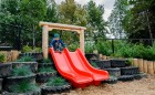 natural playground slide