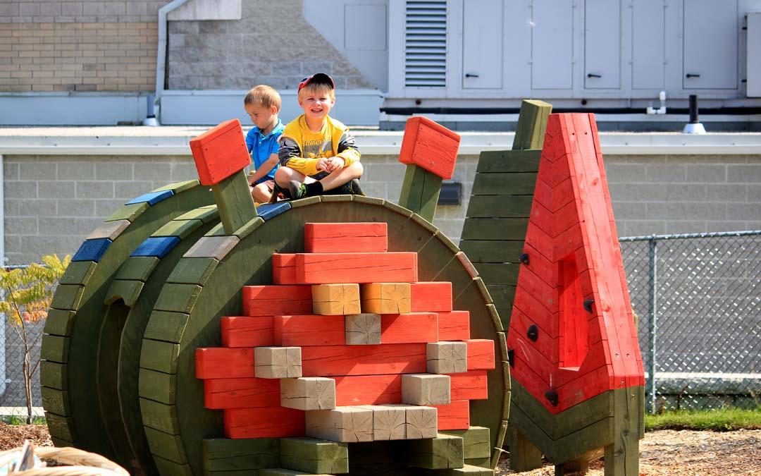 train theme playground