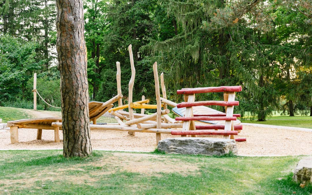 Log playground Exhibition Park Guelph