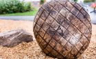 log design playground natural engrave wood