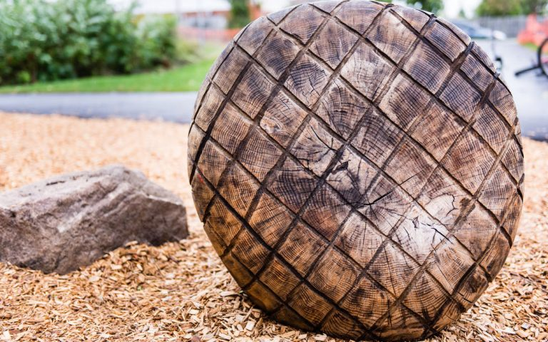 log design playground natural engrave wood
