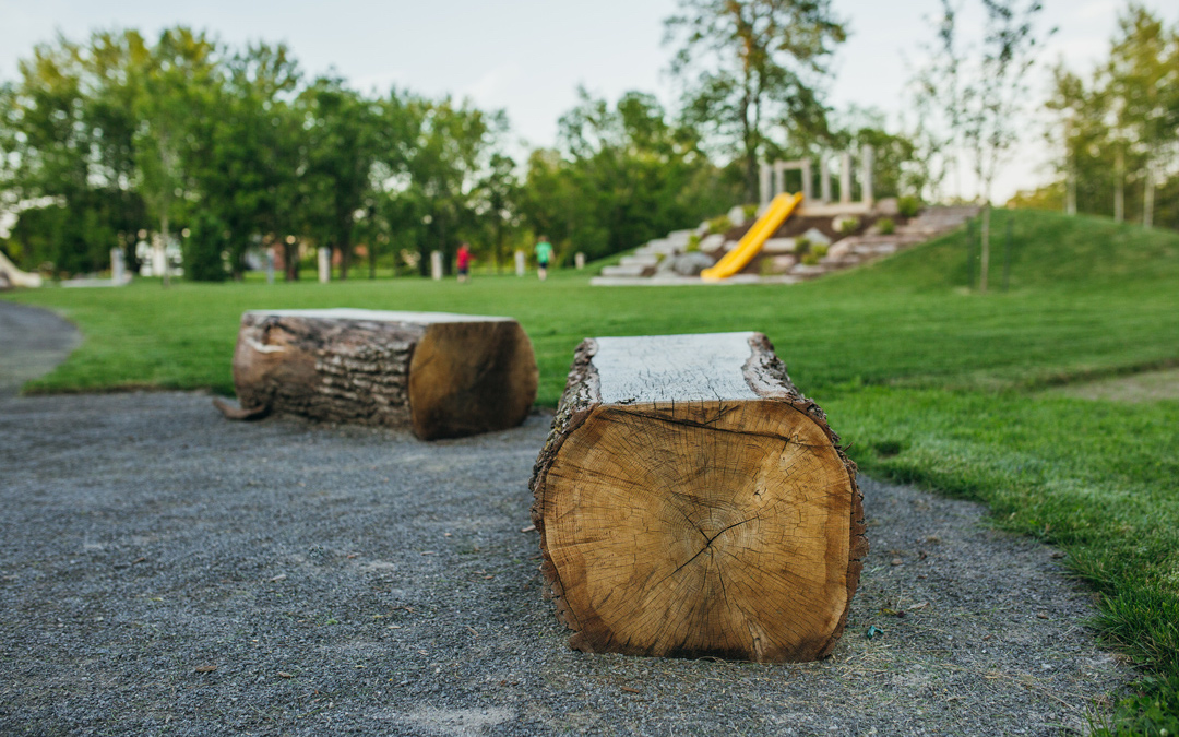 quinte west site amenities bench log