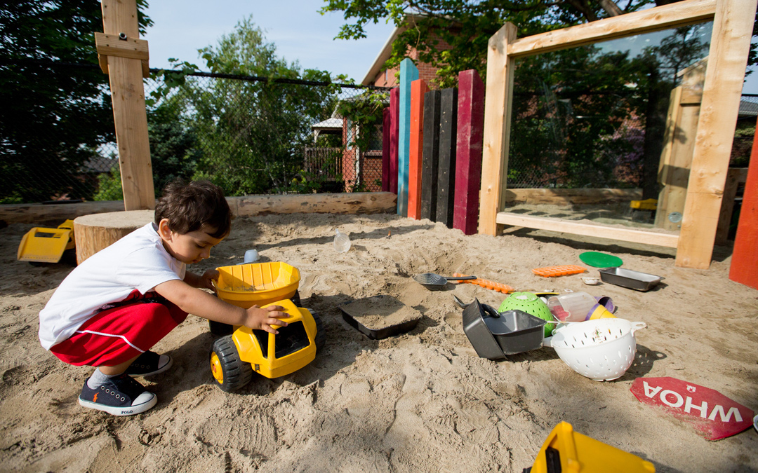 sand play day care playground