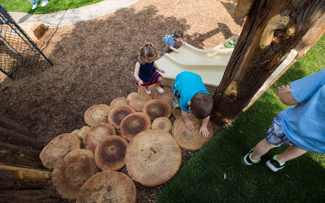 Oakville-natural-playground slide