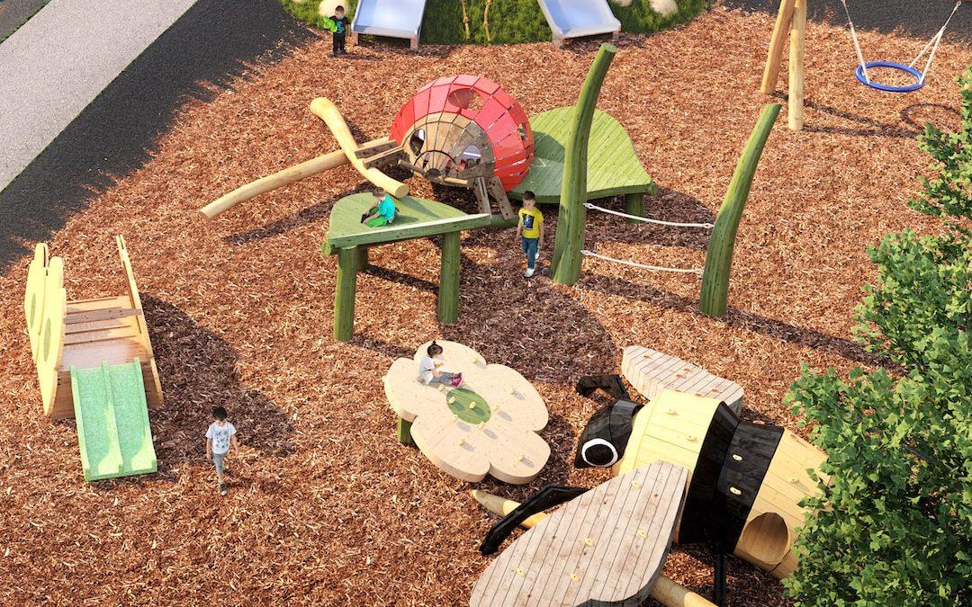 bug playground sculpture natural