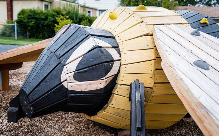 playground sculpture bee