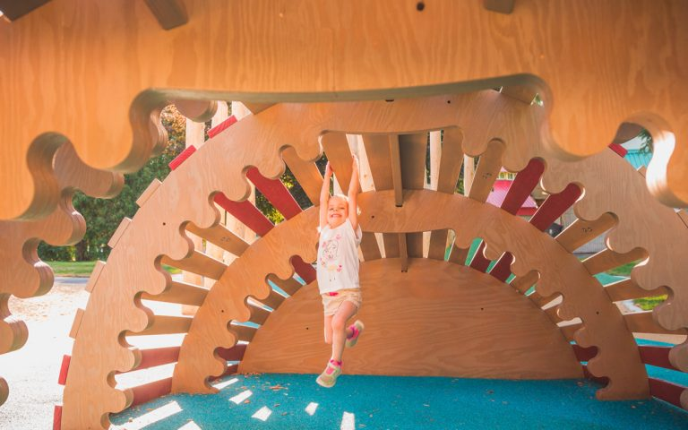 accessible inclusive design playground climber sculpture child play