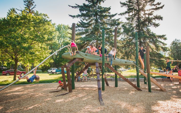 playground natural canadian sculpture inclusive design
