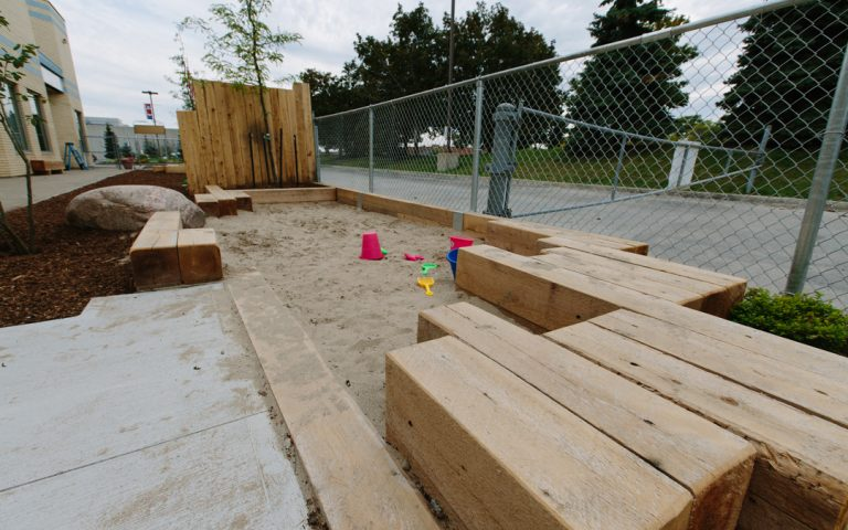 playground natural sand play tall pines brampton school