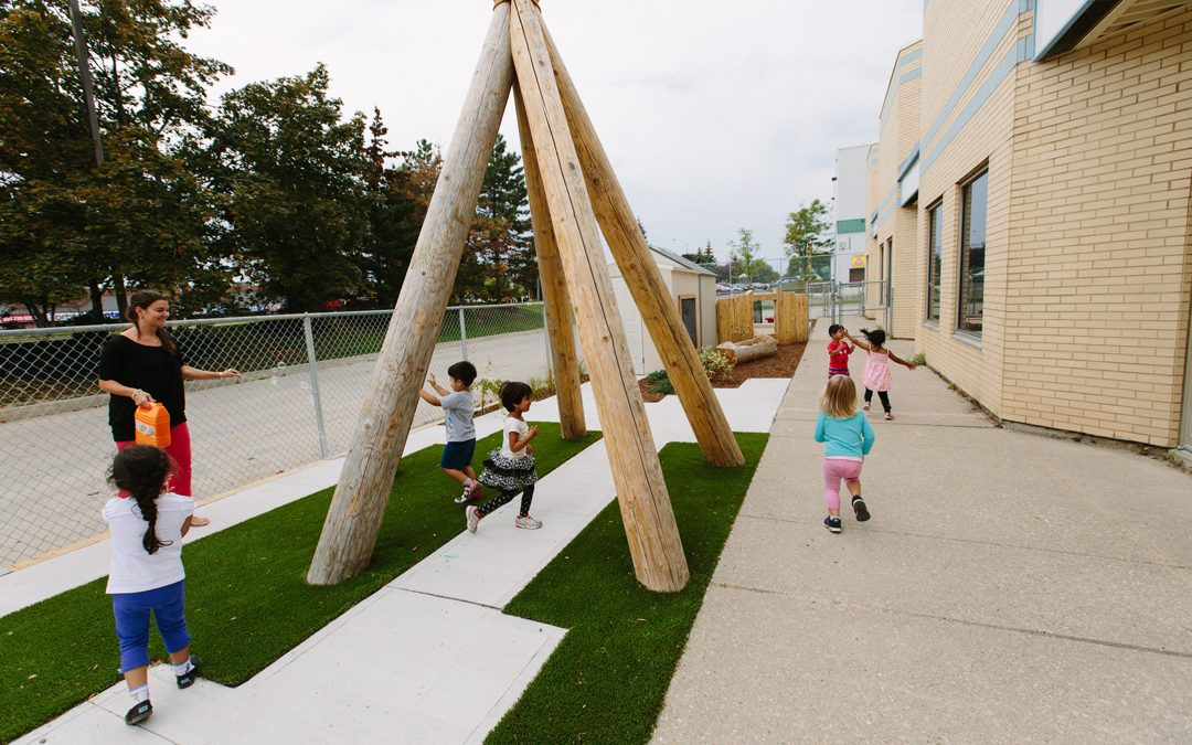tall pines playground teepee natural wood