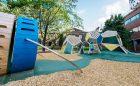 Custom play structure climbing art gallery toronto Grange Park