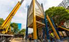 art gallery ontario tower crane installation