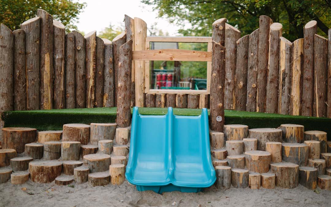 daycare playground slide