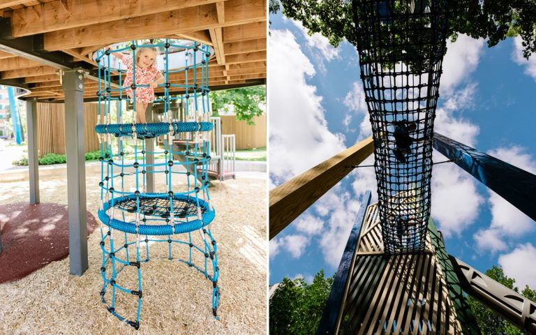 rope climbing wood playground toronto structure
