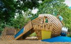 sculpture art gallery wood custom playground