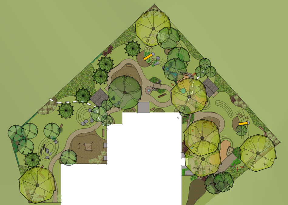 site plan playspace natural