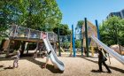 themed playground play space slide