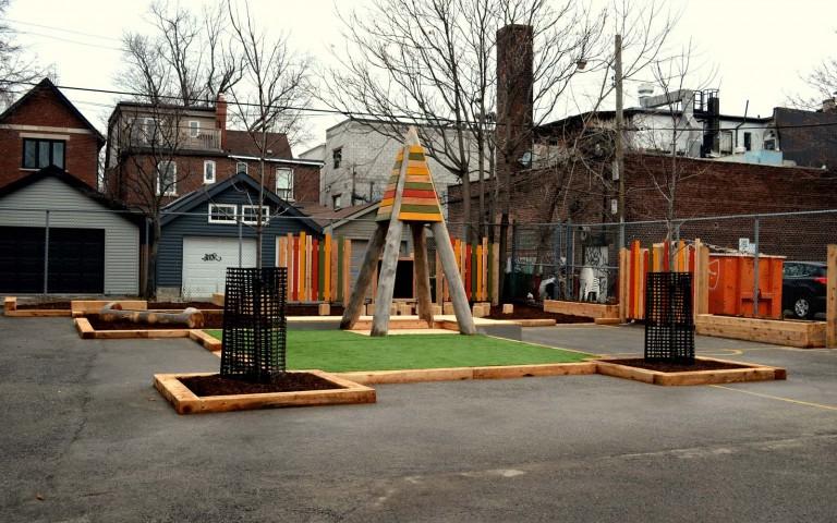 Holy Name Catholic School 001 school playground natural tower log fence sand