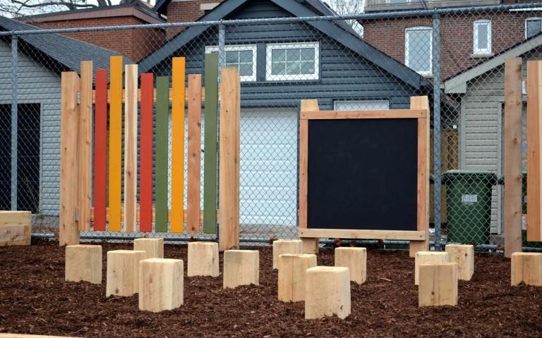 Holy Name Catholic School 008 school playground natural tower log fence sand