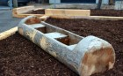 Holy Name Catholic School 020 school playground natural tower log fence sand