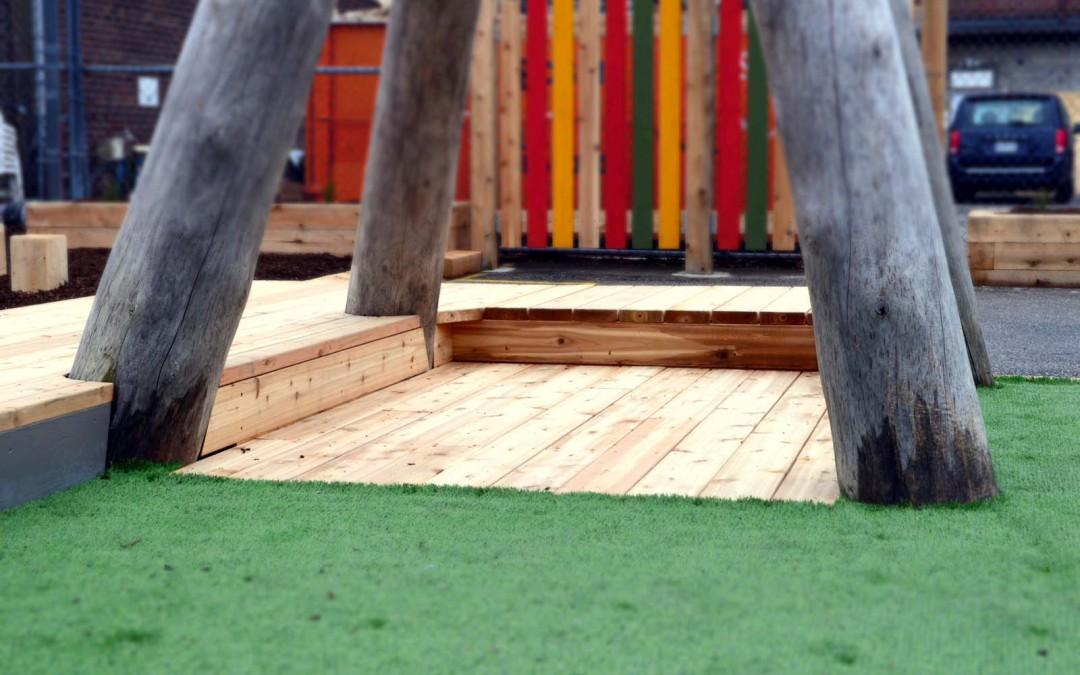 Holy Name Catholic School 023 school playground natural tower log fence sand