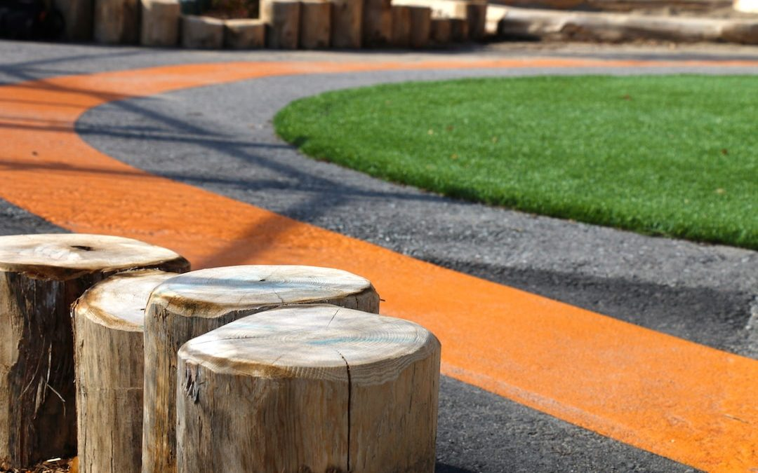 natural playground painting asphalt turf
