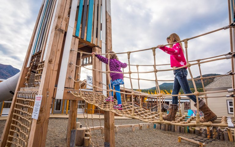 Bridge climbing tower playground yukon