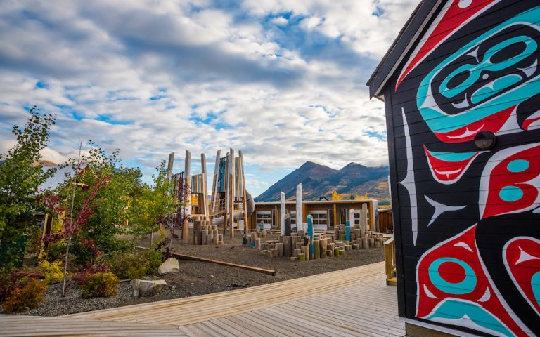 carcross boardwalk playground themed custom landscape