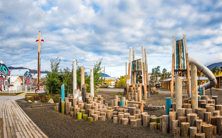 carcross climber mountain themed custom playground