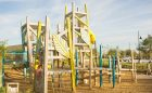 custom giant wood tower playground