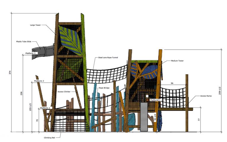 custom tower playground usa