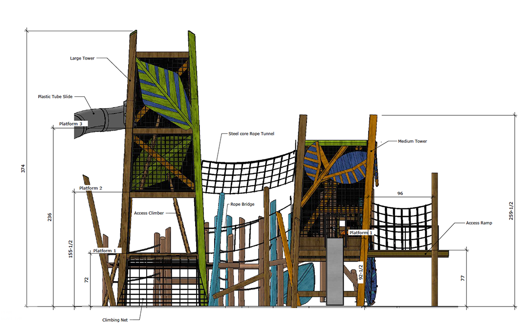 custom tower playground usa