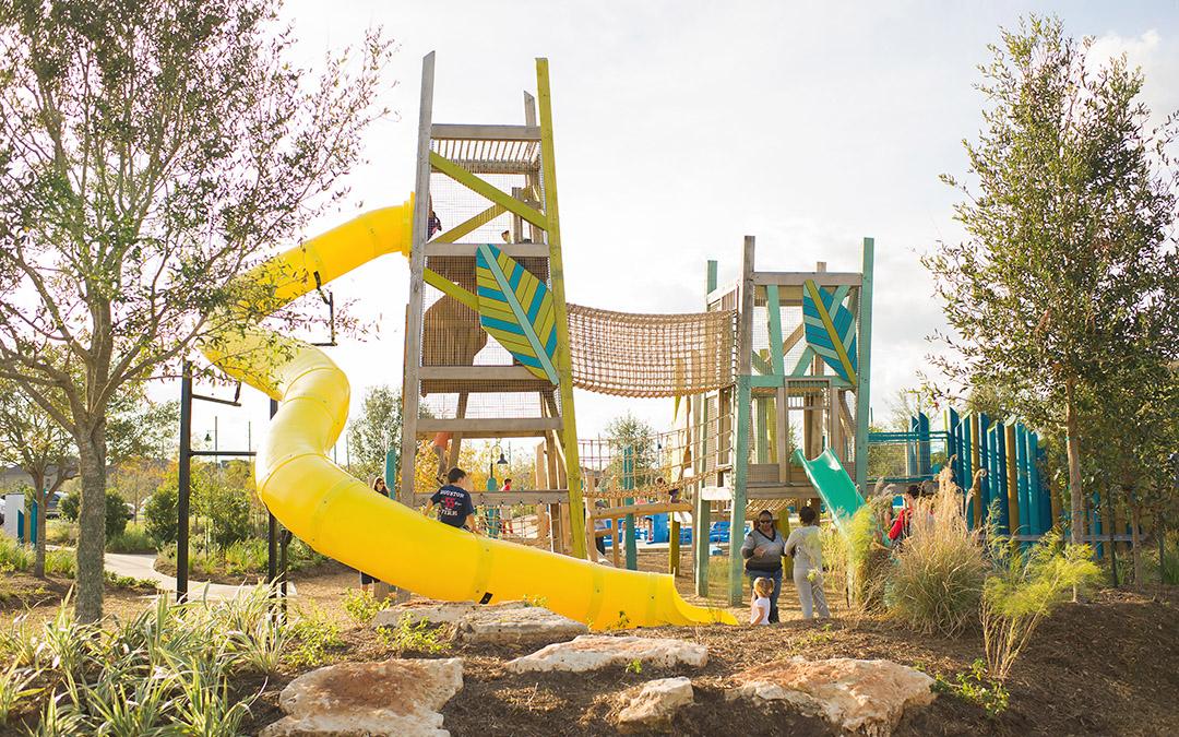 giant playground slide tower