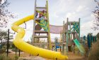 Giant tower playground custom wood architectural