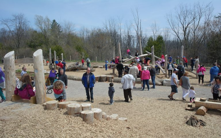 Huron Natural Area Natural Playground Grand Opening