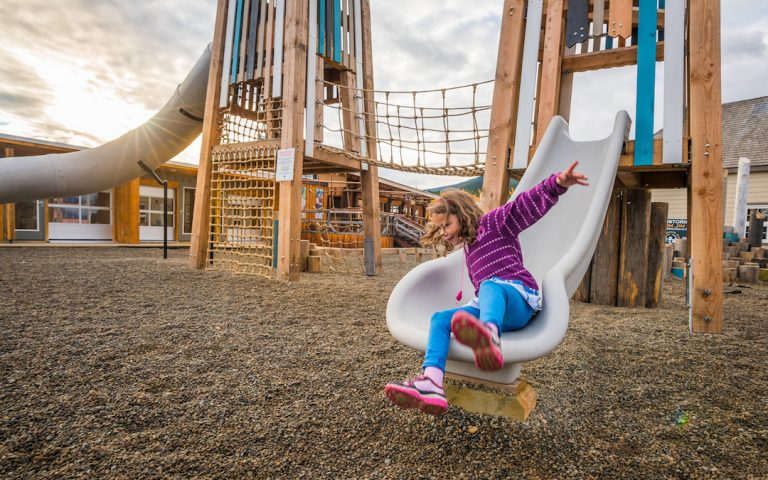 slide carcross climb active play towers