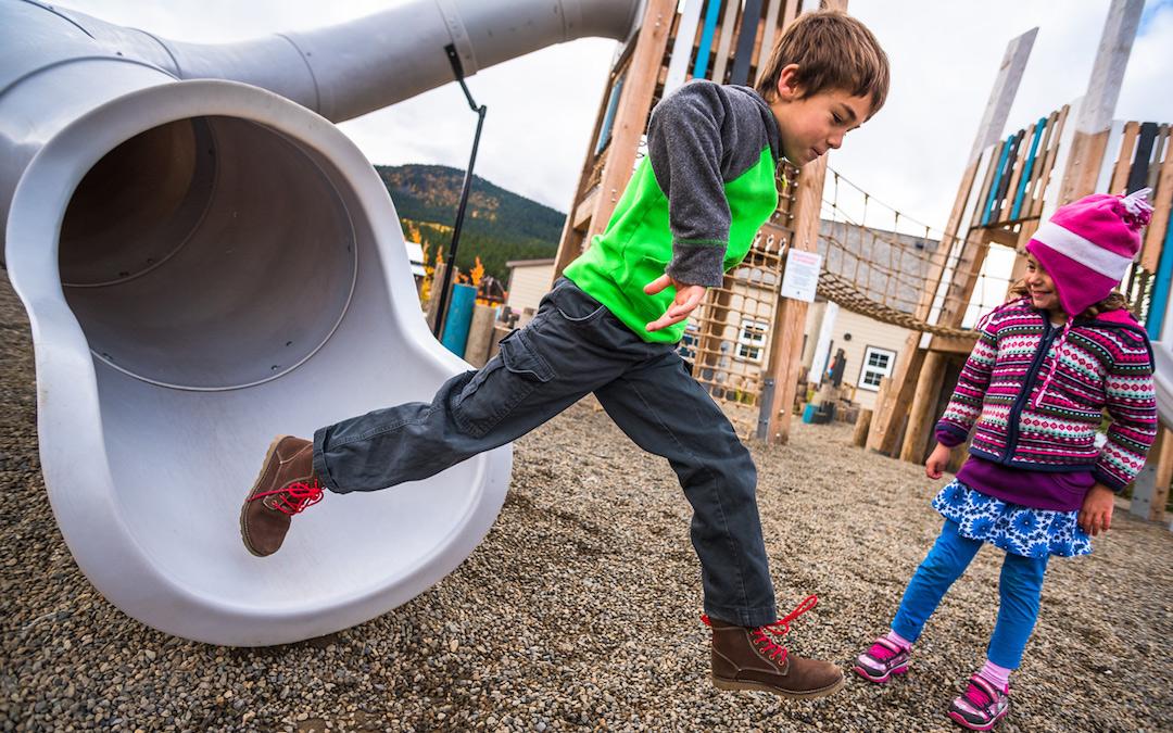 slide yukon playground carcross mobility playspace custom playground