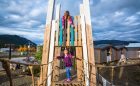 towers carcross yukon playground outdoor custom wood