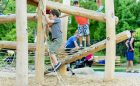 climbing log jam wood custom play
