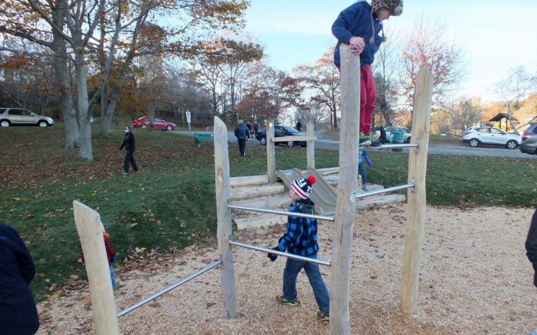 bars climbing natural playground