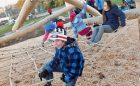 Natural net log children climbing