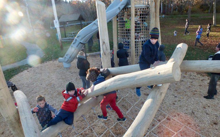 playground natural climbing active play robinia logs
