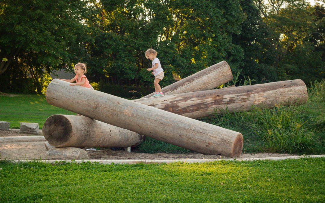 fallen log playground natural outdoor playspace