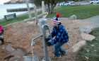 water pump sand play interactive