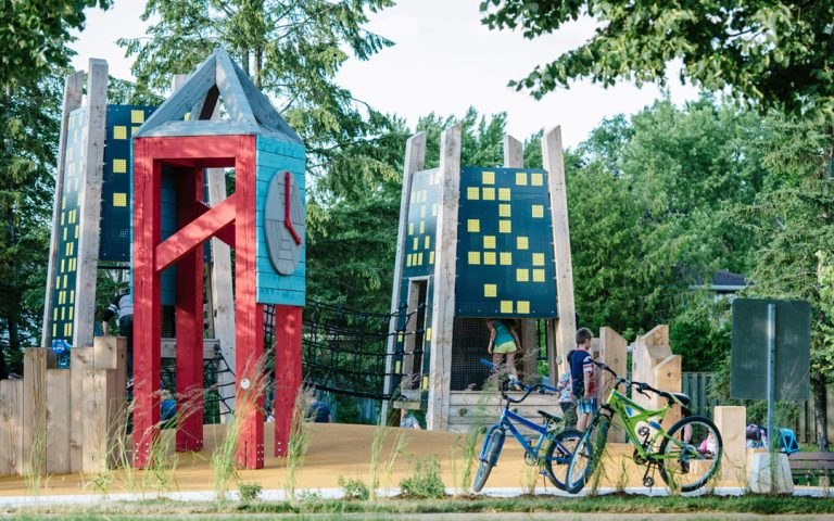 Jaycee Park Mississauga themed natural playground