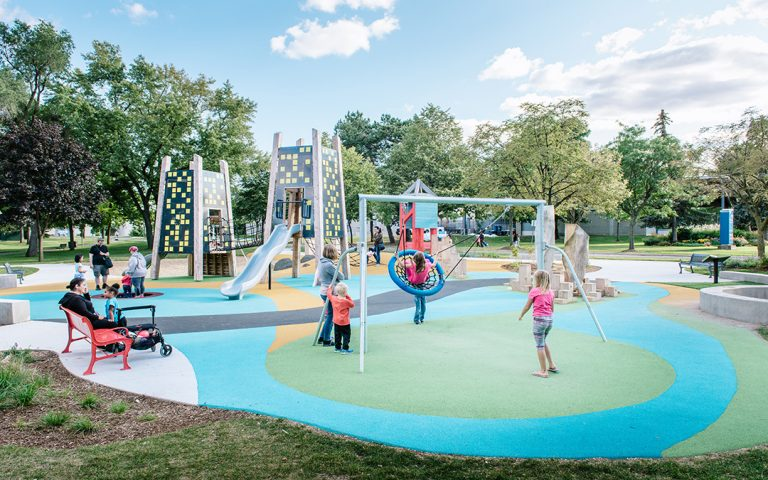 Jaycee Park Mississauga themed playground