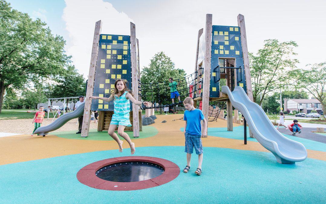 Jaycee park tower sculpture trampoline
