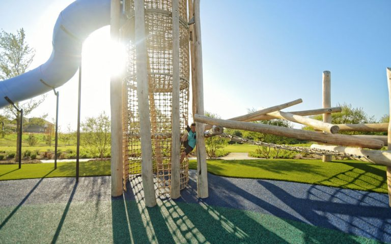playground slide tower log climbing