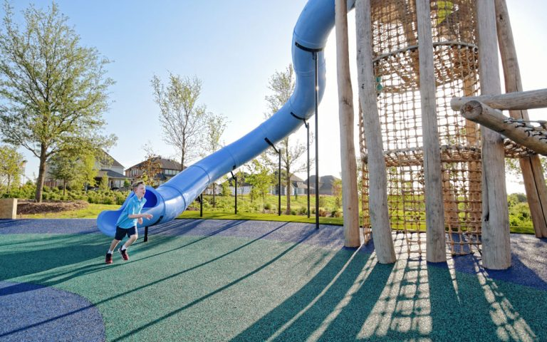 active tower playground fun slide tube